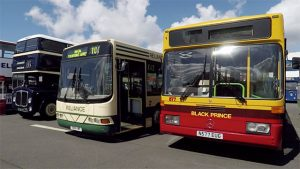 Selection of Buses at the Scarborough Bus Fest 2017 including the preserved Reliance B10 which we had a ride on.