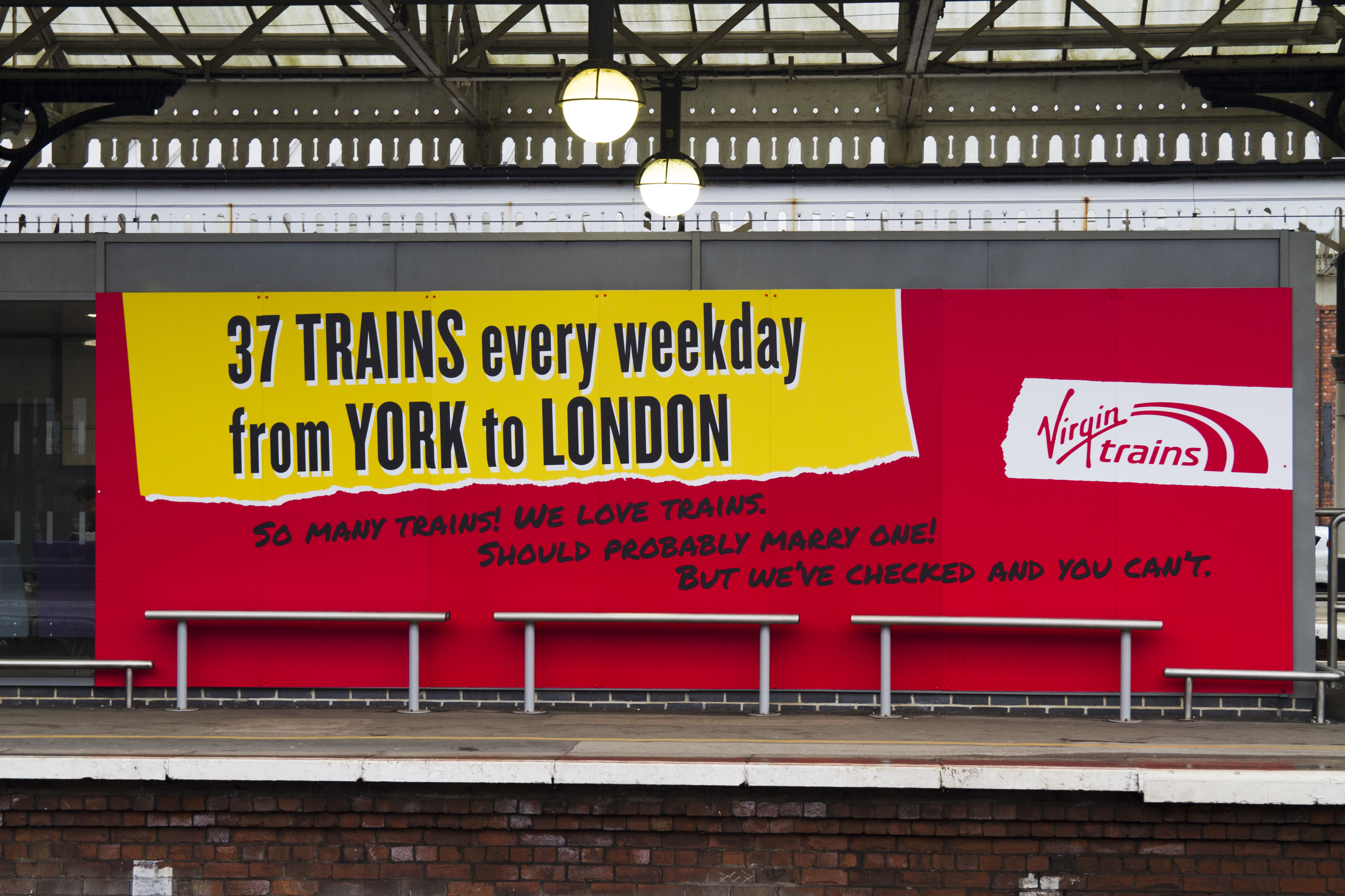 Virgin Trains Poster at York Railway Station